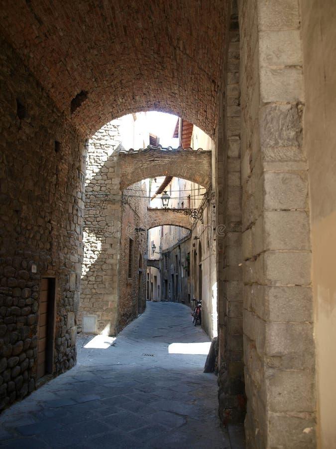 Pistoia- Tuscany. Picturesque street in antique center Pistoia stock photos