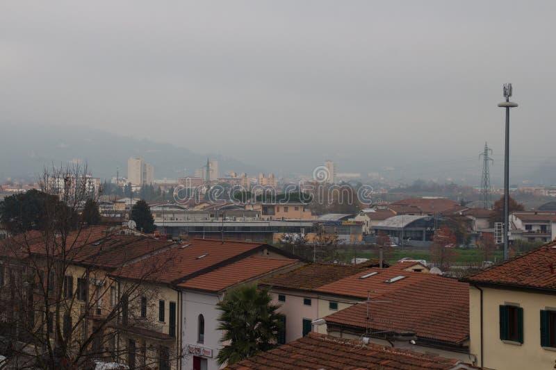 Pistoia. View from Santa Barbara Fortess. Tuscany. Italy. royalty free stock image