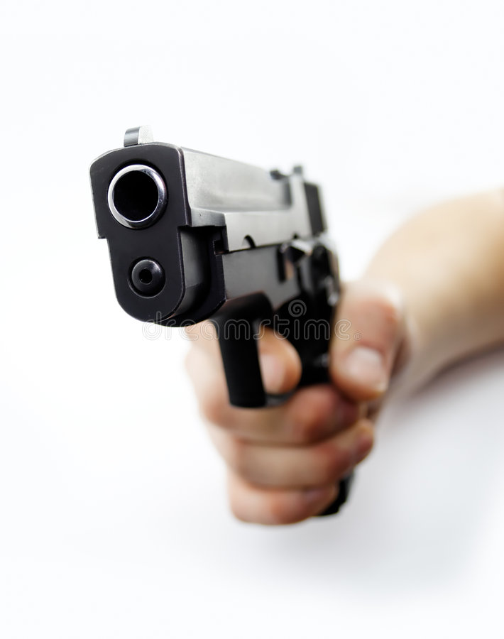 Download Pistol stock image. Image of crime, grip, robbery, hand - 3881375