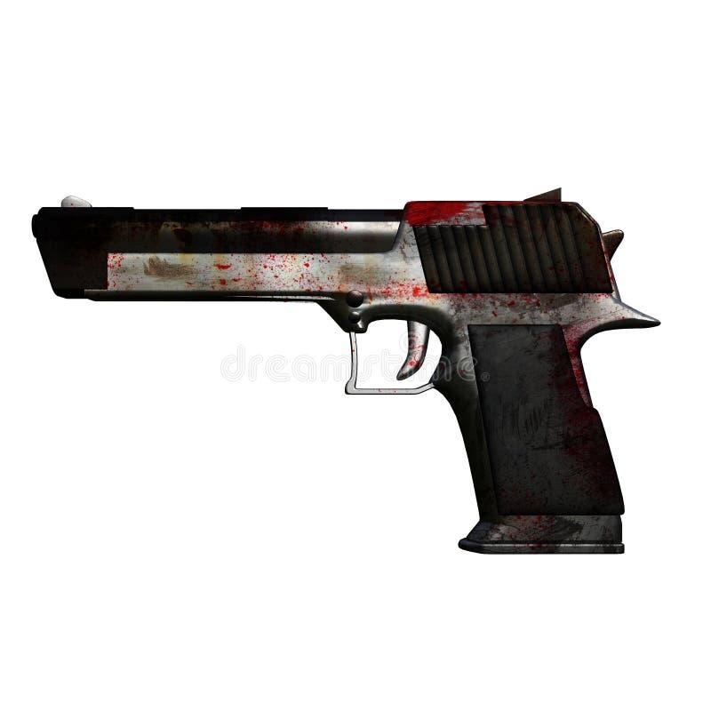 pistol 3d royaltyfri foto