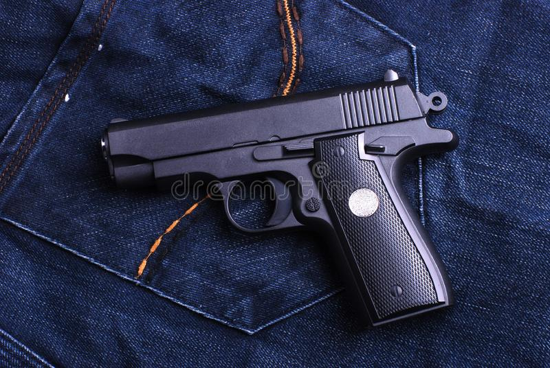 Download Pistol stock image. Image of object, aiming, magazine - 8254529