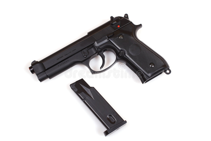 Pistol 9mm stock photo