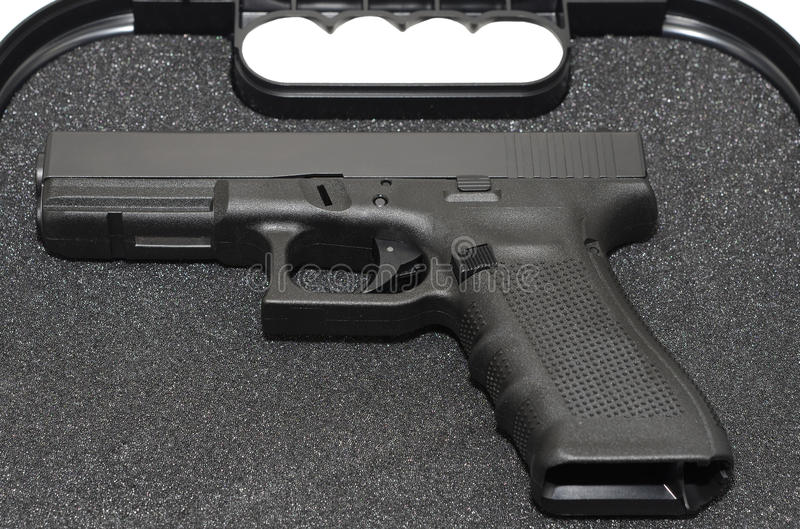 Pistol in a Case stock image