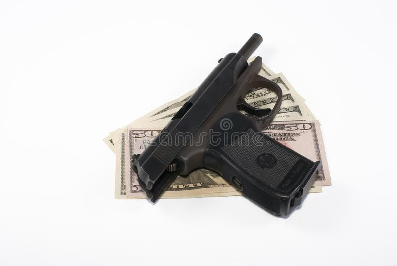 Download Pistol and dollars stock image. Image of pistol, trigger - 6164535
