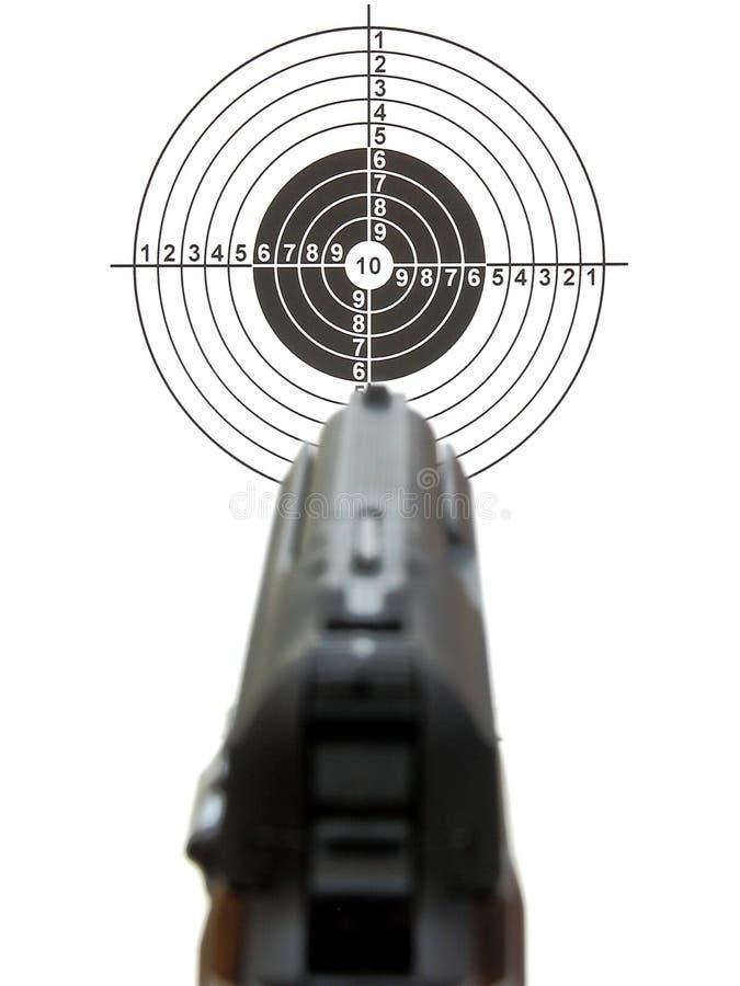 Pistol ett mål arkivfoto