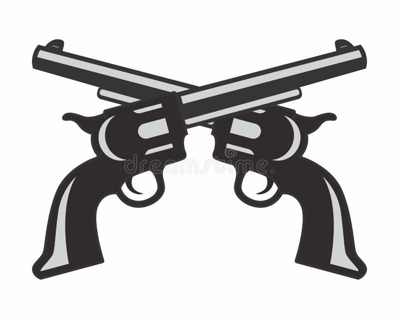 pistol gun logo stock vector illustration of vector