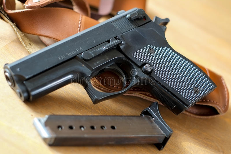 Download Pistol Gun With Magazine Stock Photo - Image: 24124950
