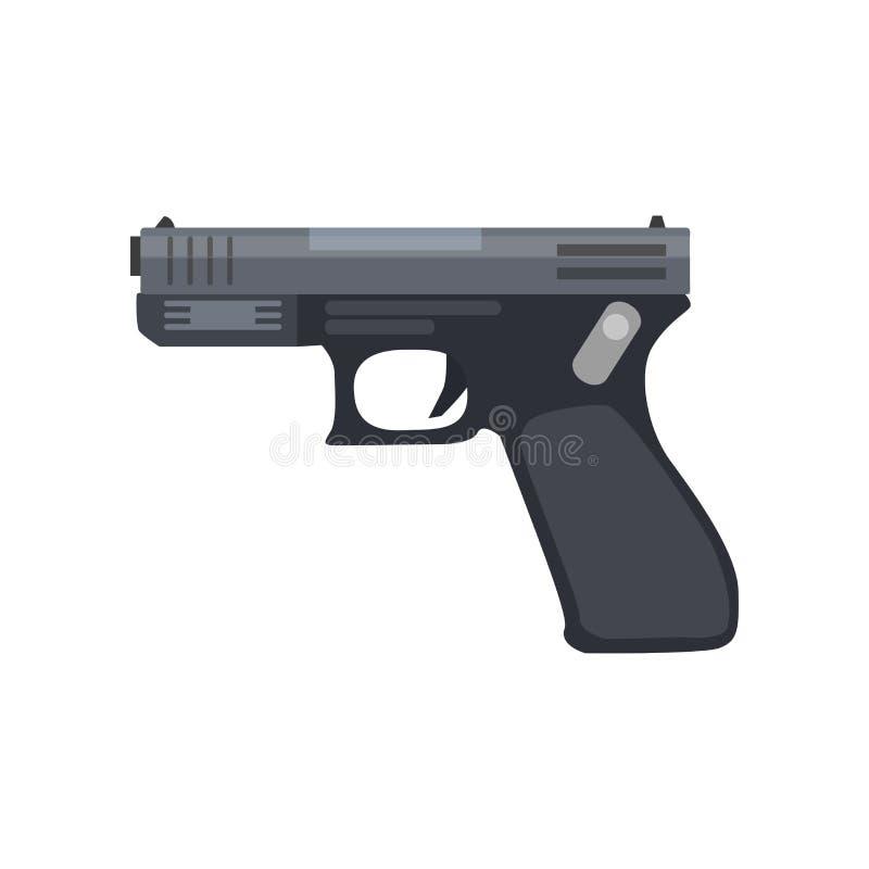 Pistol gun vector revolver illustration vintage weapon handgun. Western cowboy firearm hand design royalty free illustration