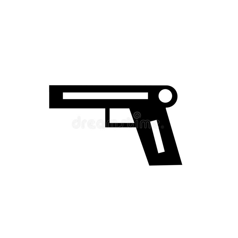 Pistol icon vector sign and symbol isolated on white background, Pistol logo concept vector illustration