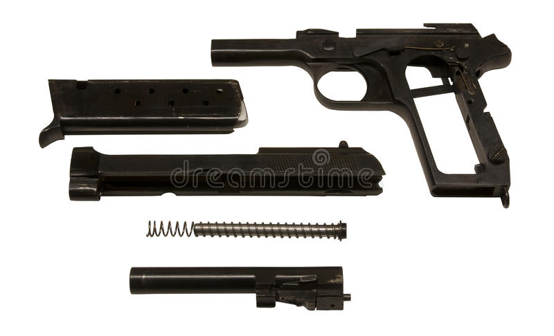 Pistol Parts Royalty Free Stock Photography