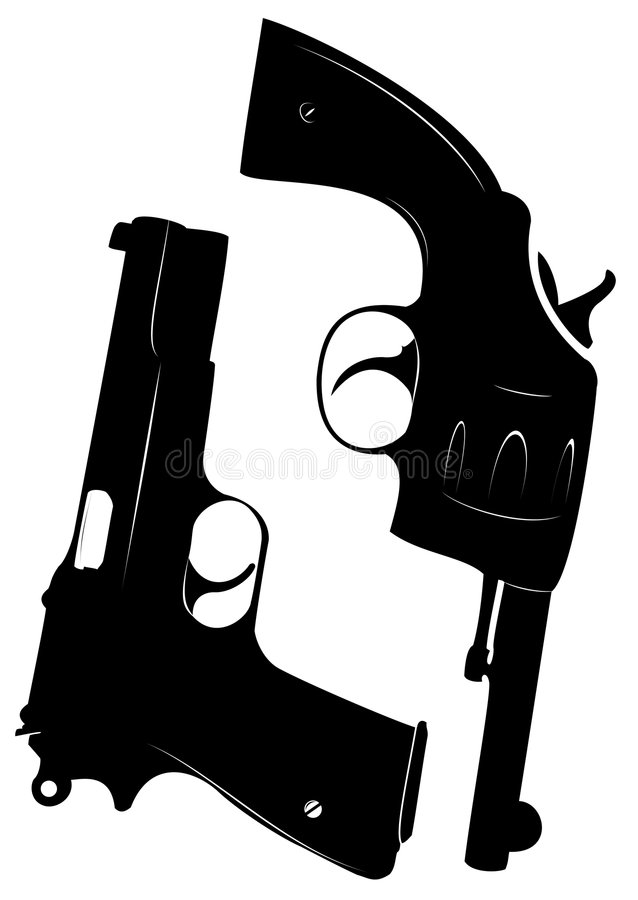 Download Pistol & Revolver stock illustration. Image of black, revolver - 8416155