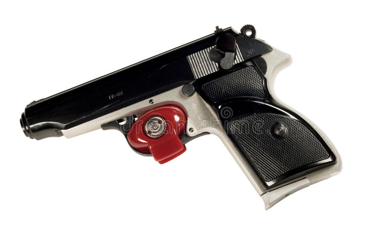 Download Pistol and trigger lock stock image. Image of security - 14074935