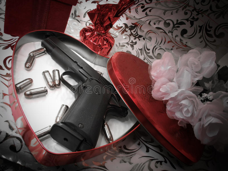 Pistol Valentine royalty free stock images