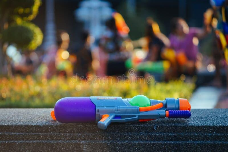 Pistola a acqua per il festival dell'acqua di Songkhran immagini stock libere da diritti