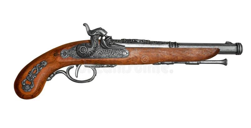 Pistola antiga do flintstone fotografia de stock