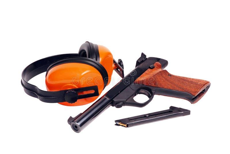 pistola de 22 blancos imágenes de archivo libres de regalías