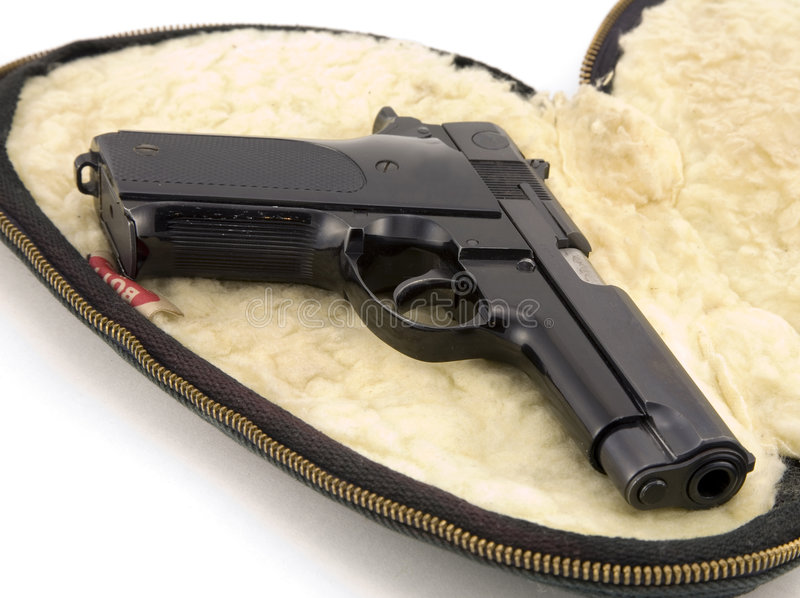 pistola de 9m m imagen de archivo