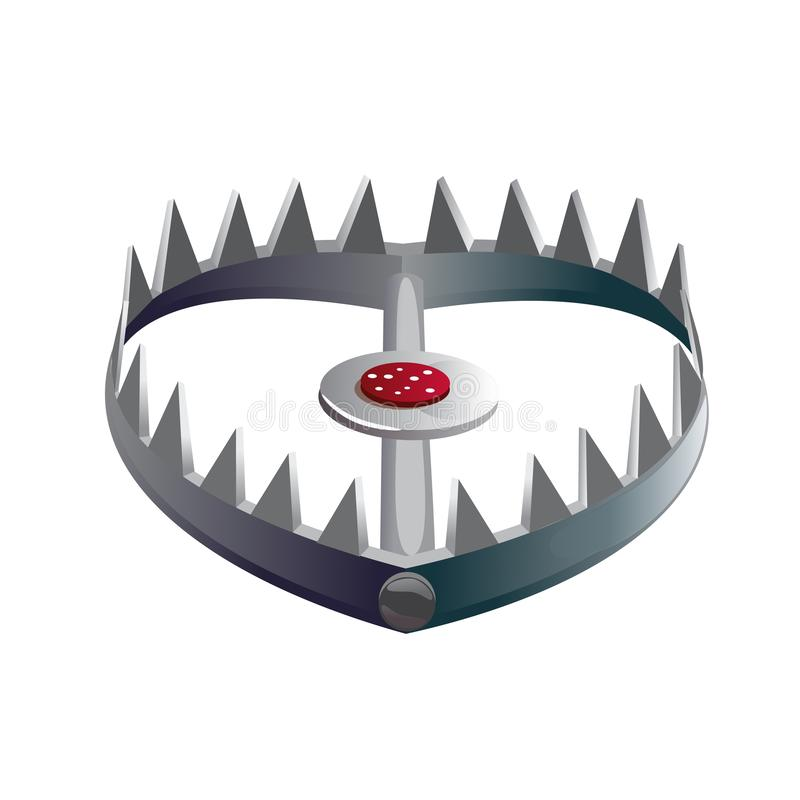 Pistola de cebo de pie o de garganta con picos en sus mandíbulas ilustración del vector