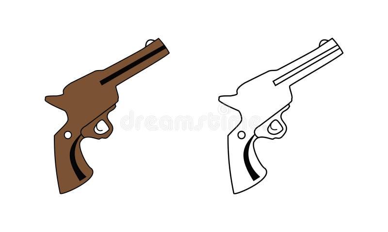 Pistola de la mano del vector libre illustration