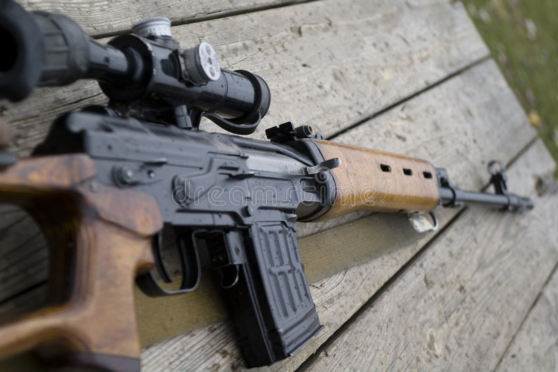 Pistola del fucile fotografia stock