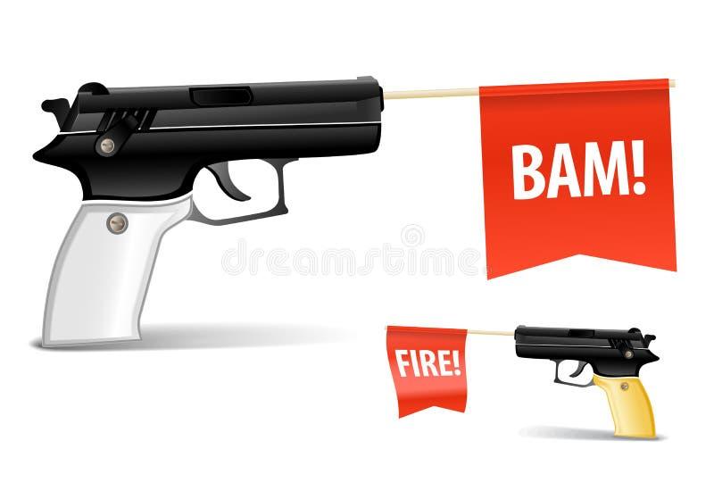 Pistola del giocattolo royalty illustrazione gratis