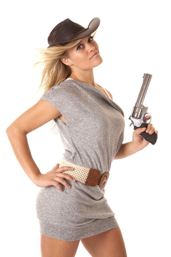 Pistola della donna sicura fotografia stock libera da diritti
