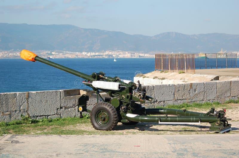 Pistola della Gibilterra immagini stock libere da diritti