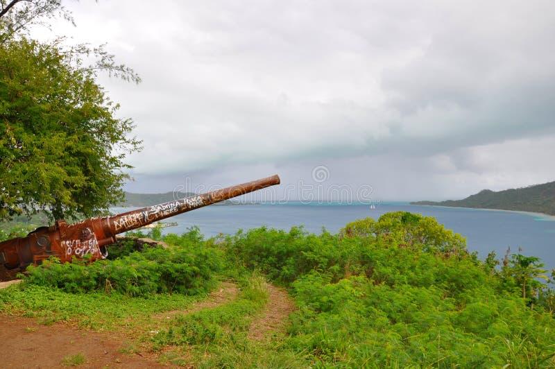Pistola della seconda guerra mondiale fotografia stock libera da diritti