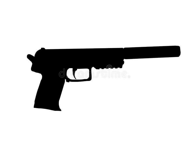 Pistola do Silencer ilustração royalty free