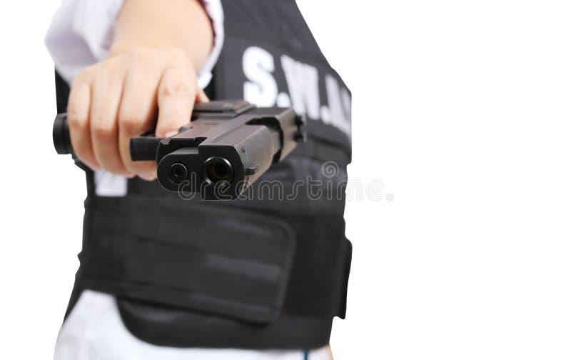Pistola e schiaffo immagini stock