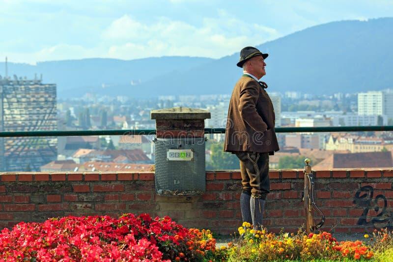 Pistola en el festival en el castillo Schlossberg en Graz, Austria imagen de archivo libre de regalías