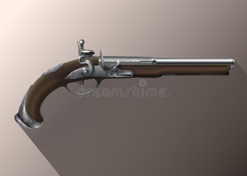 Pistola, fusil de chispa libre illustration