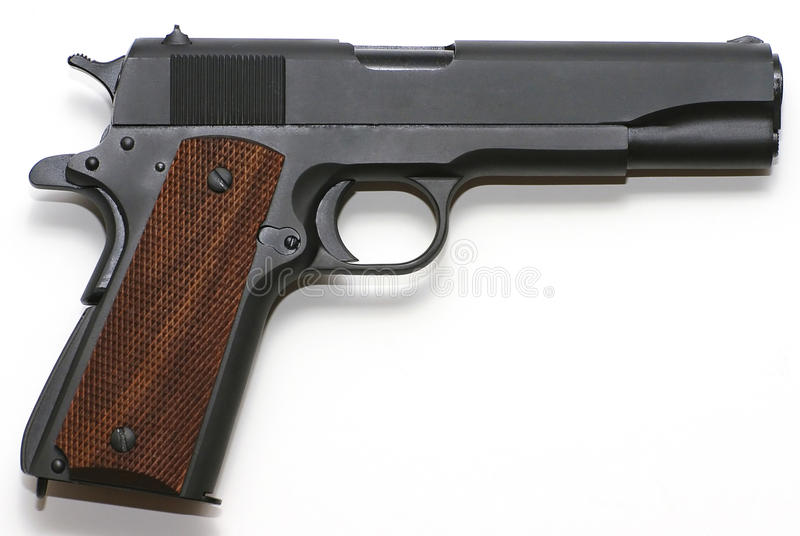 Pistola isolada no branco imagem de stock royalty free