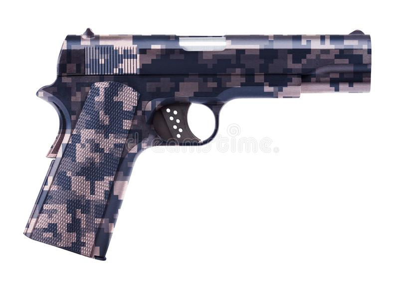 Pistola isolada no branco fotografia de stock royalty free
