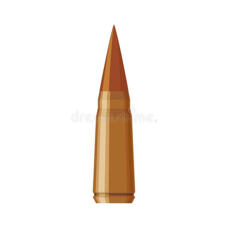 Pistola isolata della pallottola royalty illustrazione gratis