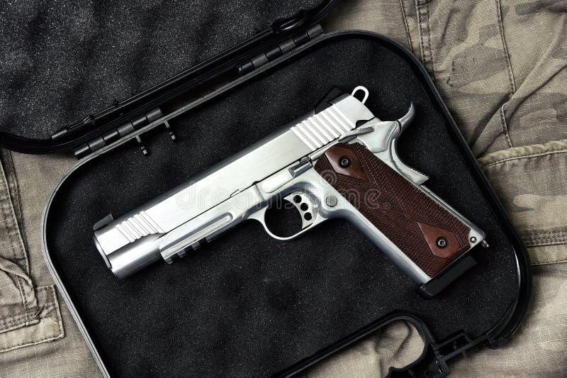Pistola 11m m, serie del arma del arma, primer de la arma de mano de la policía imagen de archivo