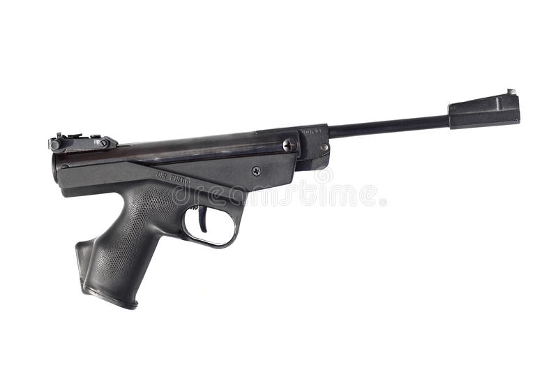 Pistola negra del aire fotografía de archivo