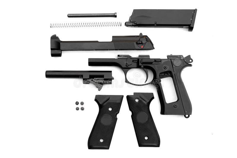 Pistola, parti separate immagini stock libere da diritti