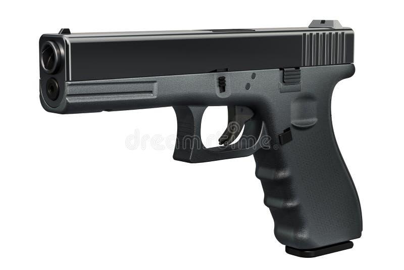 Pistola, primo piano della pistola rappresentazione 3d illustrazione vettoriale