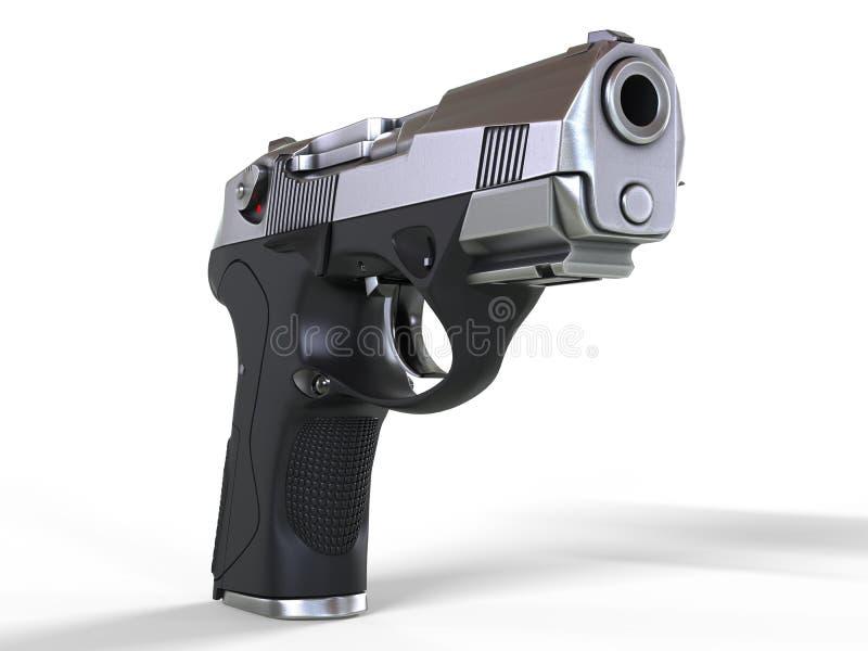 Pistola semi automática do estojo compacto ilustração do vetor