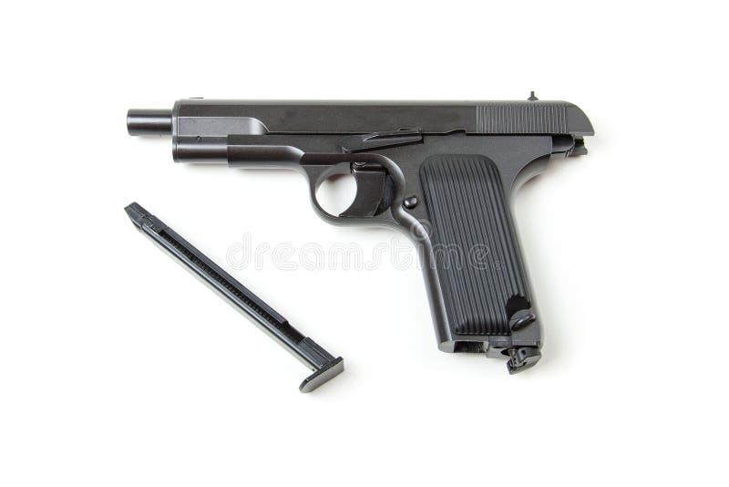 Pistola smontata, fotografia stock libera da diritti