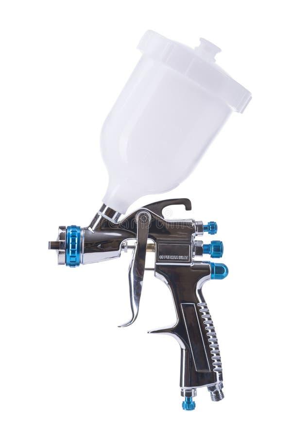 Pistola a spruzzo isolata su bianco immagine stock
