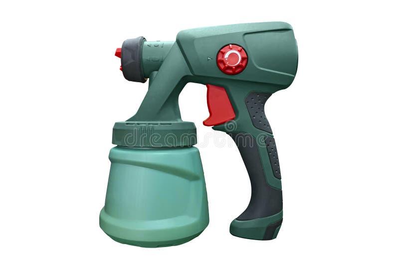 Pistola a spruzzo per la verniciatura dell'apparecchio elettrico manuale Pistola a spruzzo industriale per la verniciatura isolat immagine stock