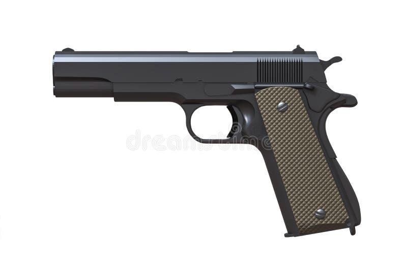 pistola típica isolada no branco ilustração do vetor