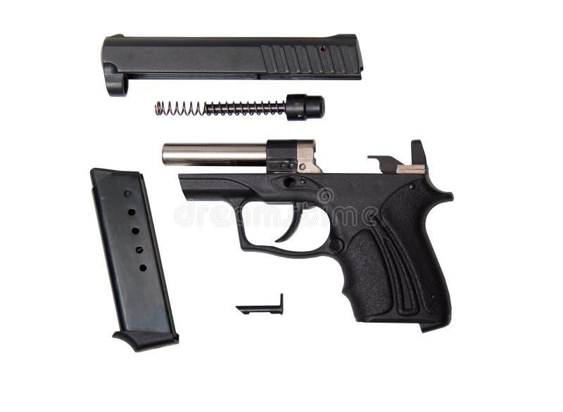Pistola traumatica smontata di fort-10r immagini stock