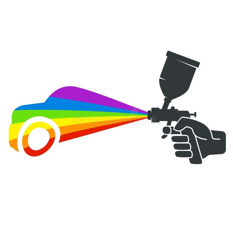 Pistolage automatique illustration libre de droits