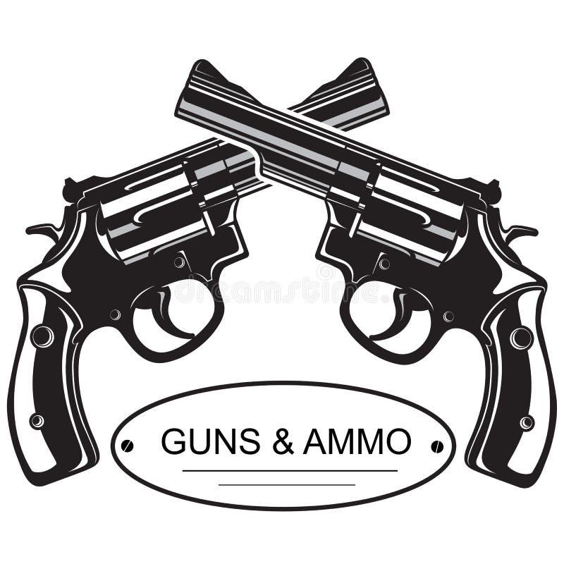Pistolas cruzadas del revólver libre illustration