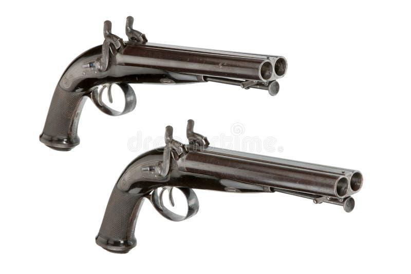Pistolas de la percusión de los pares imagen de archivo libre de regalías