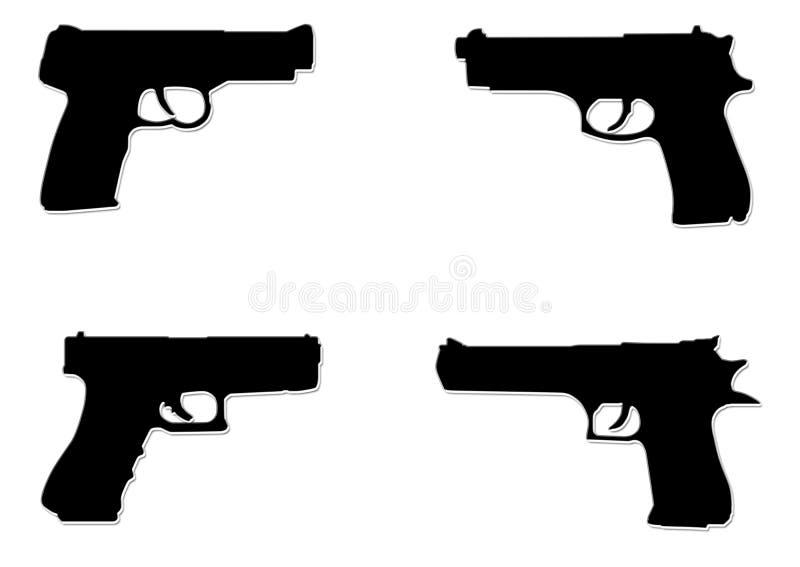 Download Pistolas pretas ilustração stock. Ilustração de isolado - 535134