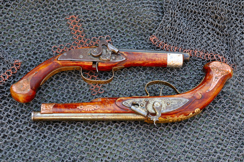 Pistolas viejas imagen de archivo
